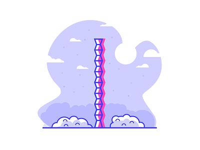 The Endless Column  romania line simple graphic design grass column illustration