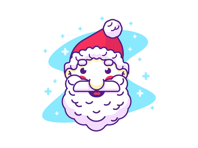 Santa Clause red beard jolly christmas santa clause graphic design illustration