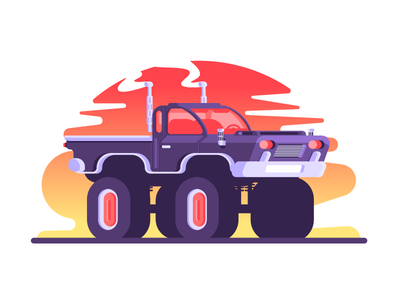 Monster Truck awesome truck car wheel tire monster truck graphic design illustrationg