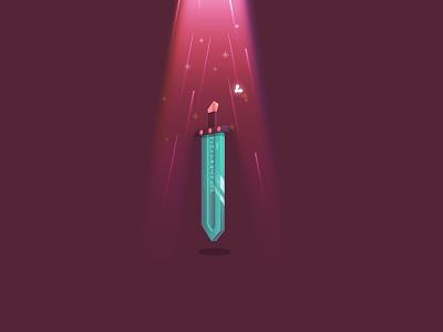 Floating Sword zelda spirit ray sword graphic design illustration