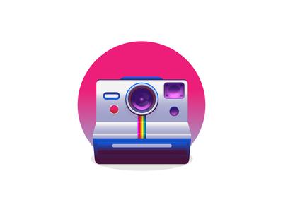 Polaroid polaroid memories fun weekend photo camera graphic design illustration