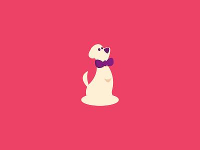 Dog Logo bowtie petcare pet dog logo logo design graphic design