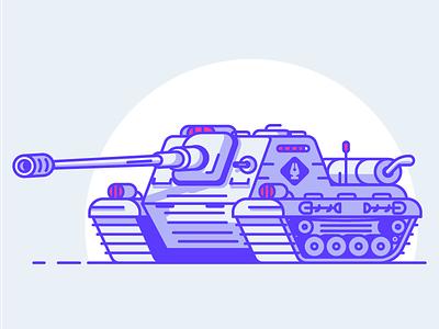 Pen Guild Tank pen pentool heavy machine war cannon vehicule tank graphic design illustration
