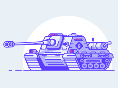 Pen Guild Tank pen pentool heavy machine war cannon vehicule tank graphic design illustration