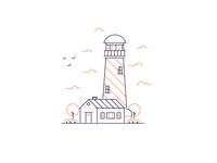 Lighthouse and house