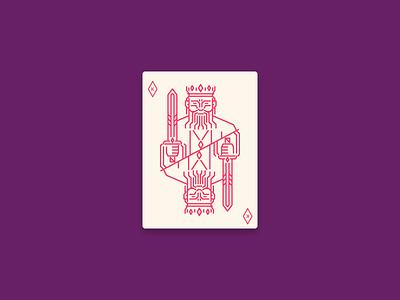 The King diamond king of diamonds playing card card icon design icon graphic design illustration