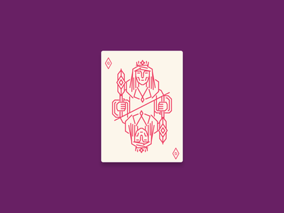 The Queen diamond queen of diamonds playing card card icon design icon graphic design illustration
