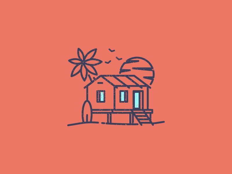 Beach House Logo By Razvan Vezeteu On