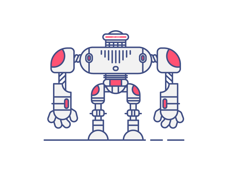 Last Robot funny huge front retro simple robot graphic design illustration