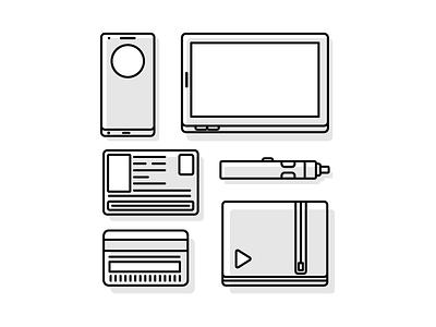 Travel Essentials travel wallet vape credit card id tablet phone lg g3 graphic design illustration