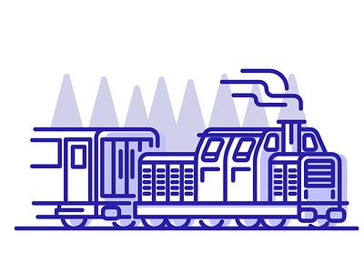 Travel By Train? holiday travel smoke tree stroke locomotive train graphic design illustraiton