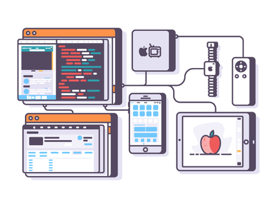 Apple App Dev itunes itv ipad iphone iwatch graphic design back end front end dev app apple illustration