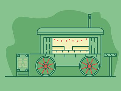 Food Truck wheels wine hot tea christmas foodtruck food graphic design illustration