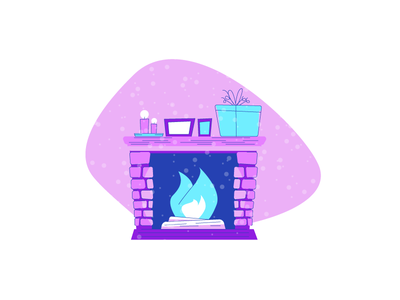 Fireplace warm winter christmas logs fire candles pictures gift fireplace graphic design illustration