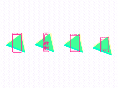 Phone Icons 90s oneplus samsung alcatel lg icons graphic design illustration