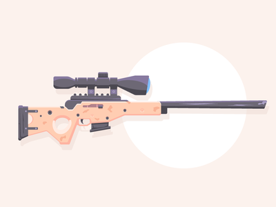 Bolt-Action Sniper Rifle weapon rifle sniper rifle fortnite pcgames games graphic design illustration