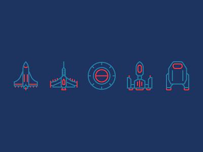 Starship Icons star gate star wars star trek ufo icons starships graphic design illustration