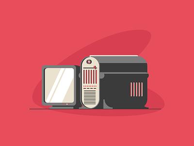 Retro Computer engine games screen pc computer graphic design illustration
