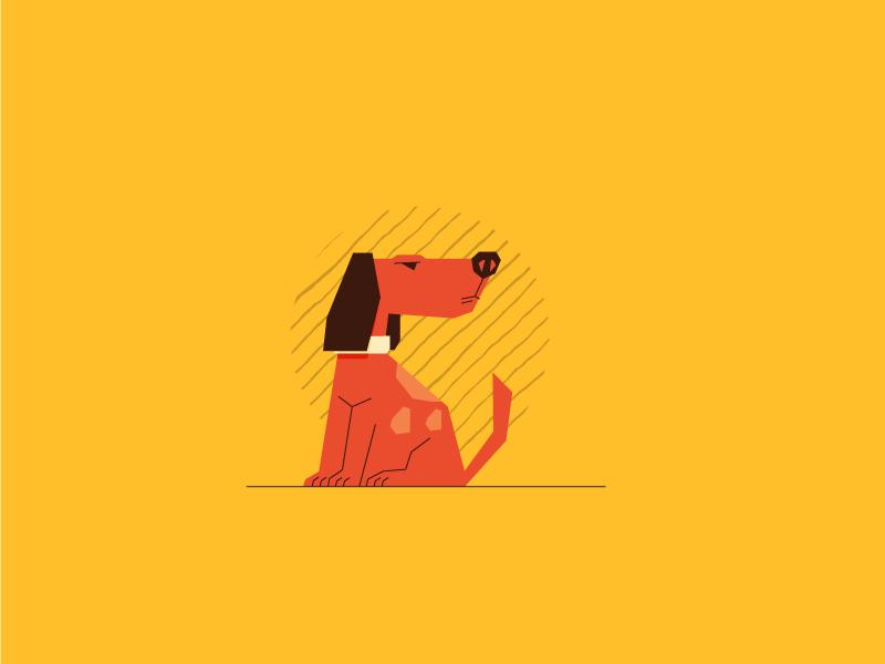 Dog retro polygon simple dog graphic design illustration