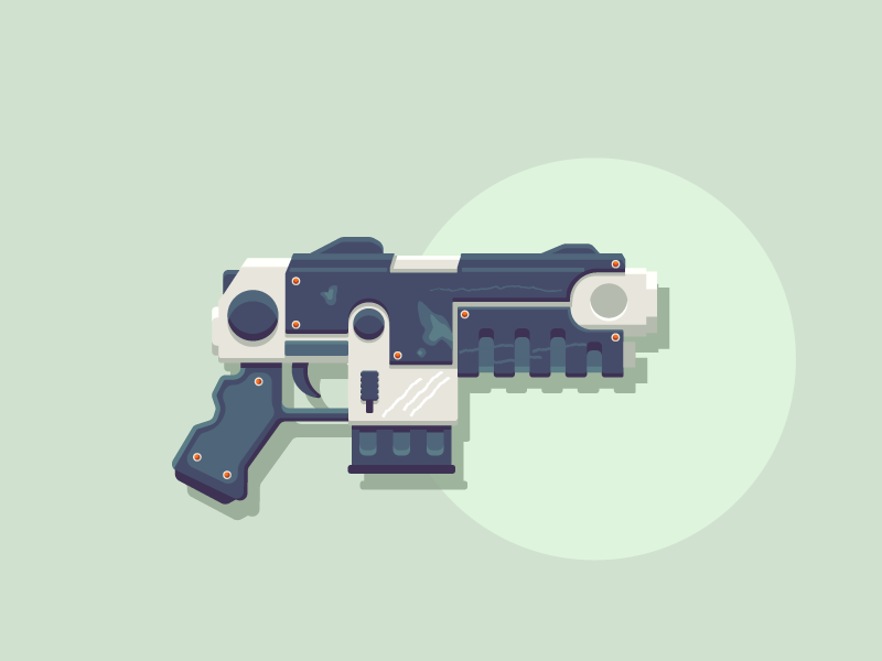 Lock n' Load : Warhammer 40K Modified Bolt Pistol video game pc game bolt gun warhammer pistol graphic design illustration