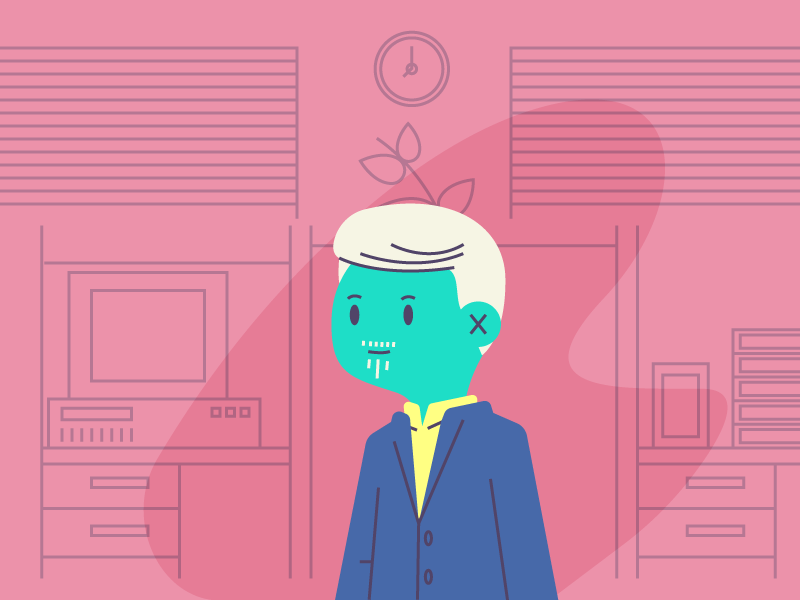 Guy In Office awesome style suit man office graphic design illustration
