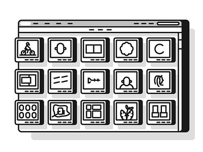Dribbble Populars logo icon ux ui shots popular dribbble graphic design illustration