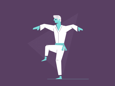 The leg! sweep karate kid kid sensei fight karate graphic design illustration