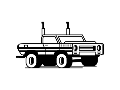 Pickup Truck monster truck tires car pickup truck graphic design illustration