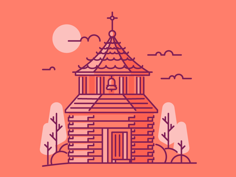 Bell Tower wood church tower tower bell tower bell architecture graphic design illustration
