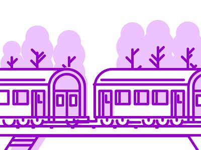 Travel By Train Pt.2 traveling rail track railroad train graphic design illustration