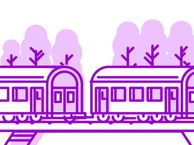 Travel By Train Pt.2 traveling rail track railroad train graphic design illustration