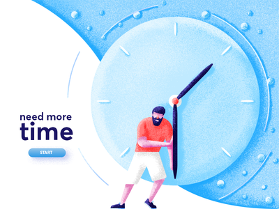 Need More Time beard shorts need time man time clock graphic design illustration