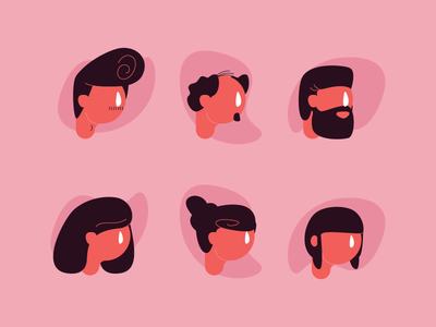 Hairstyles hairstyles hairstyle heads faces graphic design illustration