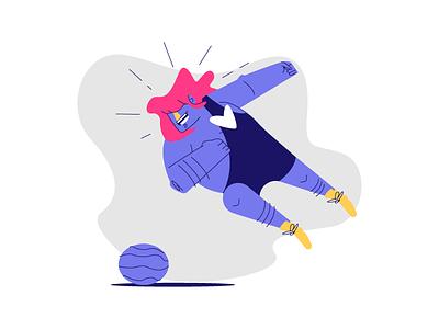 Wrestler hair sports elbow dive melon wrestling graphic design illustration