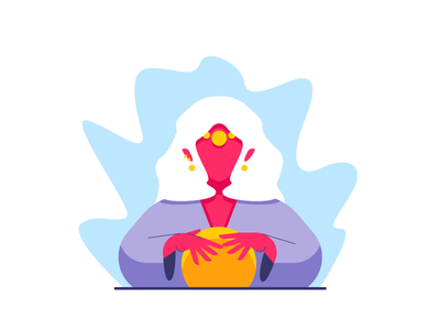 Fortune Teller fortune teller mystic person woman magic ball fortune graphic design illustration