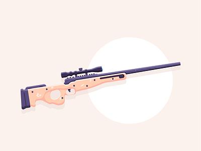 Sniper sniperrifle sniper weapon simple graphic design illustration