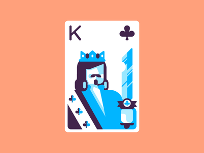 King Of Clubs playing king playingcards retro minimal simple graphic design illustration