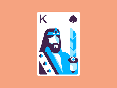 King Of Spades crown playingcards sword kingofkings kingofspades spades retro minimal simple graphic design illustration
