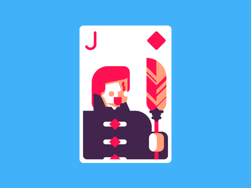 Jack Of Diamonds diamonds jackofdiamonds cards card deck rotunda retro minimal icon simple graphic design illustration