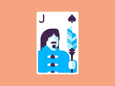 Jack Of Spades rotunda cards playingcards jack of spades spades retro minimal icon line graphic design illustration