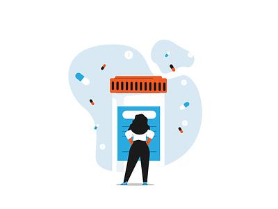Read Everything woman drugs pills big pharma pharma medicine graphic design illustration