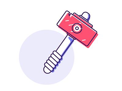 Hammer hammers battle hammer hammer ui logo icon minimal line simple graphic design illustration