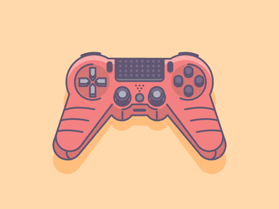 PS4 Controller gamepad controller playstation 4 graphicdesign retro icon minimal line simple graphic design illustration