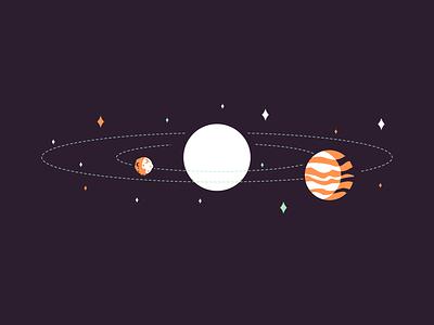 Venus stars space venus mercury sun retro icon minimal simple graphic design illustration