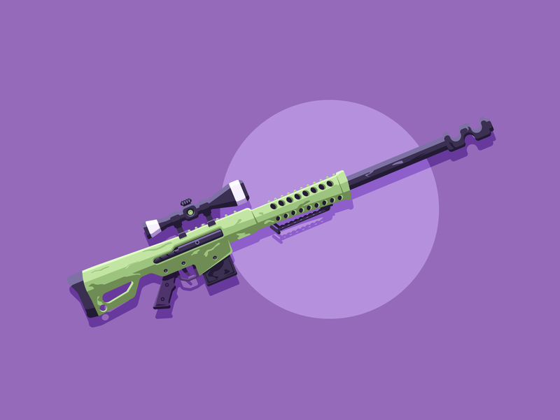 Heavy Sniper fornite bullets weapon gun heavy sniper sniper minimal simple graphic design illustration