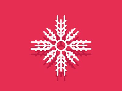 Snowflake snow day winter snowing snowflake snow retro line minimal simple graphic design illustration