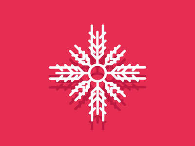 Snowflake snow day winter snowing snowflake snow retro line minimal simple graphic design illustration