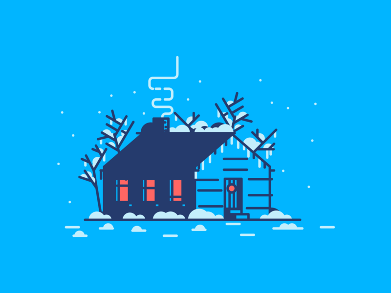 Final House design christmas villa trees windows house icon retro line minimal simple graphic design illustration