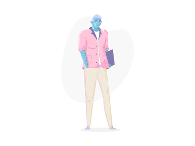Character Style Test smiling men test style test person man character jeans suit dude simple graphic design illustration