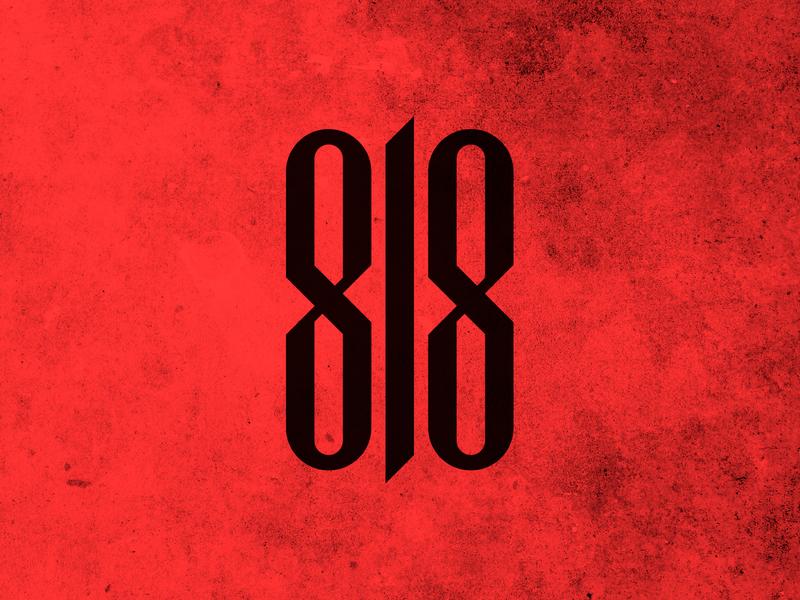 818 typography logotype illustration vector design logo branding brand group music rapper rap 818